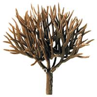 Model tree Scale Train Layout Set Model Scale Trees in size 30mm GT08-30 Plastic model tree arm tree trunk