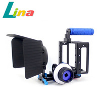 M1+F1 Movie Kit Matte Box + Follow Focus + Camera Cage + Top Handle For DSLR Camera Camcorder Free DHL