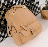 Girl's school backpack Rucksack leather handbag satchel vintage shoulder casual fashion bag