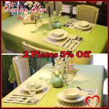 2013 Top Canvas+Cotton Green Table Cloth Tablecloth Coffee Table Cloth Long Design Short Design FS-HO-A001