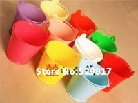 Free Shipping 10pcs/LOT wedding favor box Colorful beach pail which made of PP plastic used as candy packing