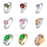 [Arinna Jewelry]Promotion Fashion Crystal Rings 2014 !! Finger Rings Gold Silver Jewelry for women 9 Items For Option R-11