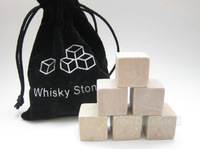 Free shipping Brown Whiskey Chilling Stones 9pcs/set, ice cube stone with Velvet bag, Chrismas Gift, wine cooler