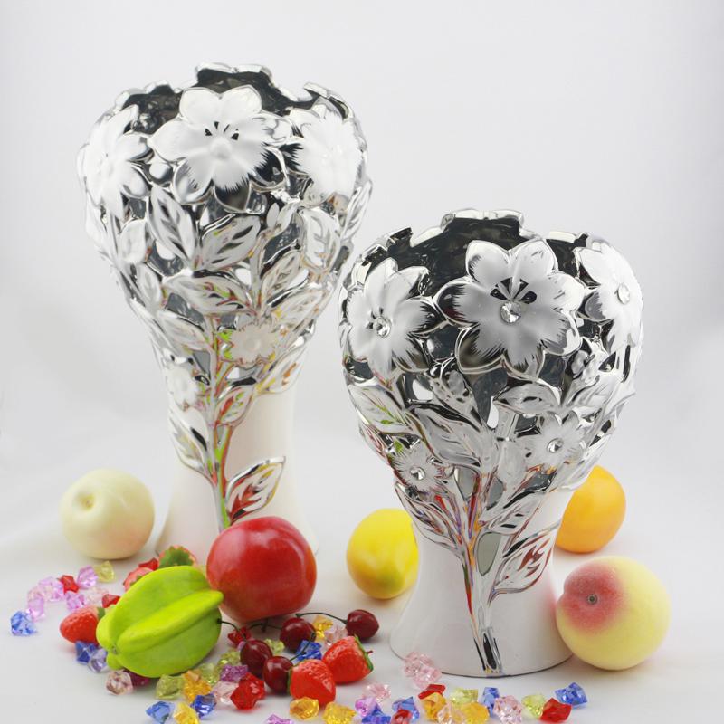 Online kopen wholesale zilveren bloemenvaas uit china zilveren bloemenvaas groothandel - Mode decoratie ...