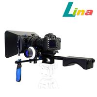 M3+F3 Movie Kit Set DSLR Kit Matte Box + Follow Focus + Shoulder Mount + Top Handle For DSLR Camera Camcorder Free DHL