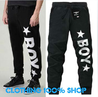 2013 Hot fashion casual men's casual trousers loose men letter male trousers BOY LONDON women sweatpants Pants lovers AO10#12