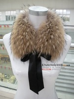 Free shipping Fur collar fox fur scarf raccoon fur collar muffler scarf raccoon fur ball scarf muffler scarf