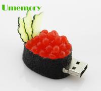 Retail real capacity 2gb 4gb 8gb 16gb 32gb novelty food Sushi salad usb flash drive pen drive memory stick Drop Free shipping