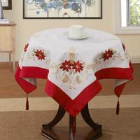 "SIZE:33X33"" SQ(85x85cm)  Holiday SALE  Christmas  table cloth"