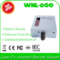 wholesale and retail Customized industrial WNL-600 WAN+auto trigger 1D laser barcode decoder stationary scanner fix mount reader