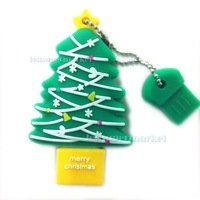 Hot Sale Green Christmas Tree shape  2GB 4GB 8GB 16GB 32GB USB Flash Drive Memory Stick