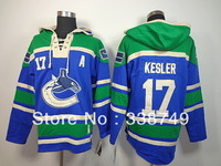 Cheap Men's Ice Hockey Jerseys Old Time Vancouver Canucks #17 Ryan Kesler Hooded Sweatshirt Jersey,Embroidery Logos