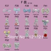 Free shipping !100pcs/lot F series (A37-53)3d bows nail art nail art decorations supplies