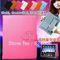 Case for ipad 2/3/4 case for the ipad mini  real leather handle dormancy holster,free Shipping!
