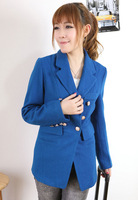 Free Shipping Fashion Woolen Women's Jacket Lady Slim Coat Blazer Suit Overcoats Outerwear Clothes