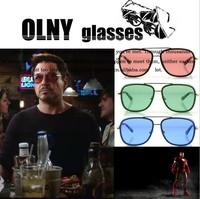 Free shipping 2013 Iron man model Sunglasses  fashion Vintage retro sun glasses women men Seven colors glasses