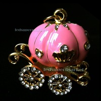 Pumpkin Pink Wedding Carriage Crystal 2GB 4GB 8GB 16G 32GB USB Flash Drive / Memory Stick