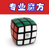 Free shipping Cheap QJ Magic Puzzle Cube 3X3X3 PVC paper sticker Speed Cube Polygonal Black white With retail box high quality
