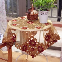 Cloth rustic fashion lace table cloth round table tablecloth dining table cloth table cloth rocher empty thread
