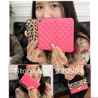 Leopard grain leather case for Iphone 4 4s luxury leather bandbag smart women leather handbags case