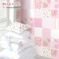 Scrub pink pvc wallpaper eco-friendly home decoration girl child room wallpaper