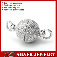 XD F24n Fancy ball design 925 sterling silver matte magnetic clasps jewerly accessories fit diy