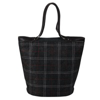 Gray Lattice Bucket women leather handbags  Fashion Felt  women handbag Hobo Tote shoulder bags