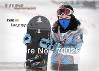New Cheap Neoprene Neck Warm Half Face Mask Winter Veil For Sport Bike Bicycle Motorcycle Ski Snowboard +Blue-black Hat
