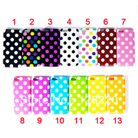 Wholesale 100pcs/lot Hot Item New Arrivial Colorful Cute Wave Points Dot Soft TPU Case for Iphone 5c