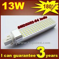 Free shipping BOPO Ultra bright flat lamp holder LED bulb 13W E27 LED corn lamp SMD 180 degree Spot light aluminum corn light