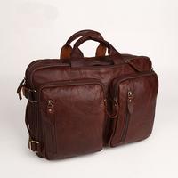 2013 New Brand Genuine Leather Men Computer Briefcase Portable Bags Messenger  Bags Vintage Backpacks