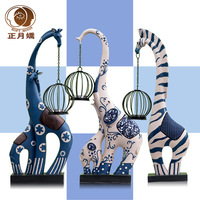 Home decoration crafts modern brief fashion deer mousse decoration!Handmade Handicraft!Hand paint !