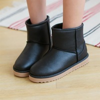 Winter thermal low snow boots waterproof Women boots flat cotton-padded shoes female snow boots