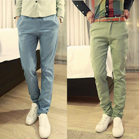 New mens pants korea casual slim fit mens pants trousers Free shipping size 28 29 30 31 32 33 34