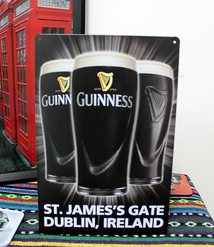 Guinness Wine Tin painting Retro Metal signs Art House Cafe Restaurant Bar Metal Paintings F-30 Christmas decorations(China (Mainland))