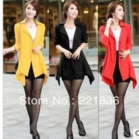Free Shipping The new woman in irregular long cultivate one's morality show thin waist coat