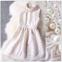 sales New Nail Black/white White Black Sleeveless Mini Slim Hip Lace Beading Formal Dress For Women Autumn Winter Clothing S-XL