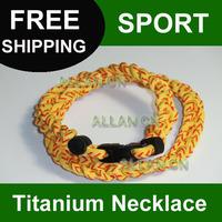 Wholesale 1000pcs Titanium Silicone Baseball Sport  Necklace, 3-rope Tornado Energy Necklaces