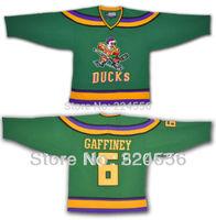 Custom Hockey Mighty Ducks #6 Gaffney Anaheim Jerseys 1996-06 Customized Jersey With Any Number, Any Name Sewn On YL-6XL