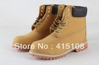 Classic men's outdoor snow boots  fashion pure leather Ms. Martin boots Men women outdoor waterproof  warm snow  boots