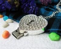 UFD0101 wholesale&retail freeshipping diamond lover lock USB Flash Drive,Gift USB Flash Disk,Jewelry USB flash drive 1-32GB
