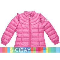 Free Shipping Girls Winter Down Jackets Fashion  Kids Warm Parkas Baby Children Outerwear K3196