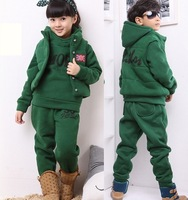 2013 New Fashion Kids Clothing Sets,Thick Winter Warm Children Hoodies Clothing Suits,Baby Boy & Girl Sport Outwear Clothes Sets
