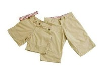 Free Shipping, 2013 Hot Sale male's leisure/casual short trousers man's shorts,khaki, Drop Shipping
