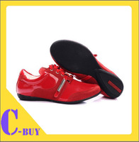 Patent Leather Women Brand Shoes Sneakers Wholesale Leisure Flat Shoes at Low Price