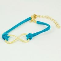 (Minimum order $5,can mix) Antique Women Infinity Symbol Cross Leather Strap Bracelet Bowknot Bracelet