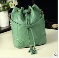 The new Soviet bucket retro portable shoulder  lady bags teenage girls handbags weekend bag women