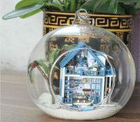 Kawaii Romantic Aegean Sea dolls house Free Shipping diy dollhouse miniature