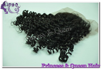 "Cheap Fashion Jerry Curl Lace Closure 4""*4"" Virgin Malaysian Human Hair Swiss Lace Free Part 12""-16"" Long Natural Black Color"