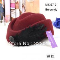 Wholesale 2014 Formal Women Wool Felt Hats Ladies Winter Beret Hat Womens Fall Fedora Dress Caps Wine Lady Spring Berets Cap